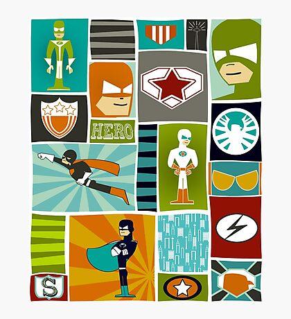 Comic Book Heroes Photographic Print