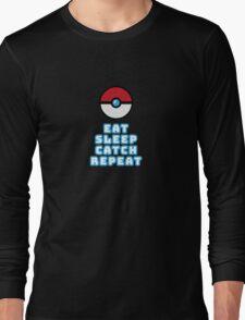 Eat Sleep Catch Repeat Long Sleeve T-Shirt