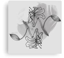Flower II (B&W) Canvas Print