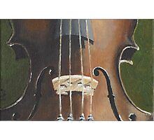 Violin Close Up Photographic Print