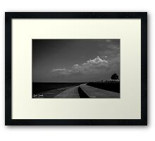 Lakefront Clouds Framed Print