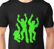 Crazy Neon Green Zombie Silhouettes Unisex T-Shirt
