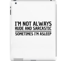 Sarcasm Irony Quote Funny Joke Humor Cool iPad Case/Skin