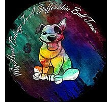 My Heart Belongs to a Staffordshire Bull Terrier Photographic Print