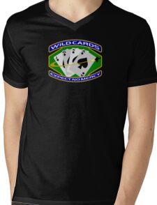 58th Squadron - 'Wildcards' Logo Mens V-Neck T-Shirt