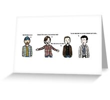 supernatural bday Greeting Card