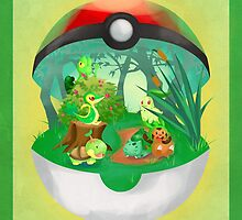 Pokemon: Grass Starters Home by toastytofu