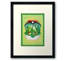 Pokemon: Grass Starters Home Framed Print