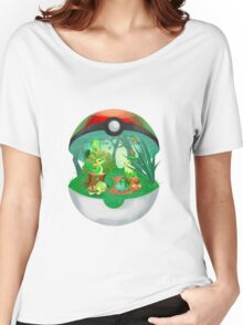 Pokemon: Grass Starters Home Women's Relaxed Fit T-Shirt