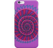 Spiked Striped Spiral (purple) iPhone Case/Skin