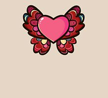 Heart Butterfly Womens Fitted T-Shirt