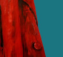 Vintage Red Jacket Home Decor Acrylic Contemporary Painting Blue Edit by JamesPeart