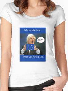 Boris Johnson, scared Brexit Women's Fitted Scoop T-Shirt