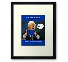 Boris Johnson, scared Brexit Framed Print