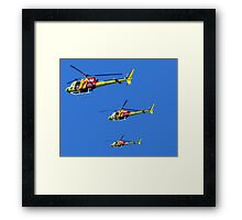 Helicopter Trio Framed Print