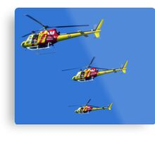 Helicopter Trio Metal Print