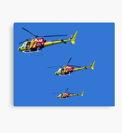 Helicopter Trio Canvas Print