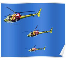 Helicopter Trio Poster