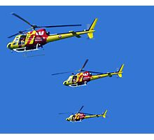 Helicopter Trio Photographic Print