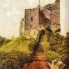A digital painting of  The Keep, Arundel Castle, England 19th century by Dennis Melling