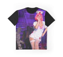 Fiends -  Naughty Nurse says Hello Graphic T-Shirt