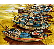 Vietnamise boats Photographic Print