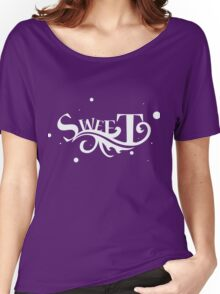 Sweet - Cool Pretty Happy and Cute Girls Clothing and Gifts Design by Sago Women's Relaxed Fit T-Shirt