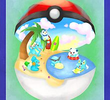 Pokemon: Water Starters Home by toastytofu