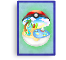 Pokemon: Water Starters Home Canvas Print