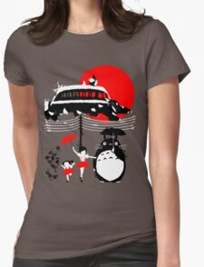 Japanese Bus Womens Fitted T-Shirt