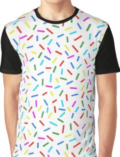 Bright Colorful Rainbow Sprinkles Graphic T-Shirt