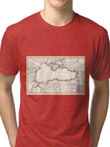 Vintage Map of The Black Sea (1747) Tri-blend T-Shirt