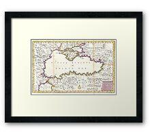 Vintage Map of The Black Sea (1747) Framed Print