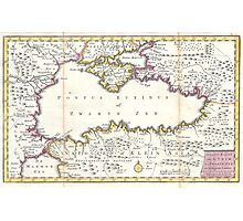 Vintage Map of The Black Sea (1747) Photographic Print
