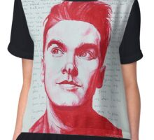Morrissey in red Chiffon Top