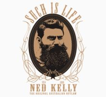 Ned Kelly - Original Outlaw Design in cream by UncleHenry