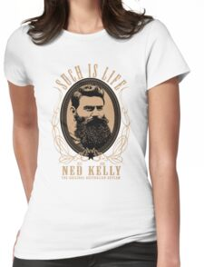 Ned Kelly - Original Outlaw Design in cream Womens Fitted T-Shirt