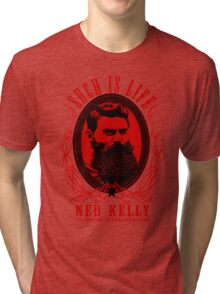 Ned Kelly - Original Outlaw Design in red Tri-blend T-Shirt
