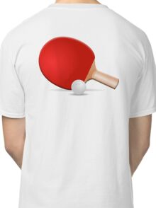 Ping Pong, Table Tennis, Bat & Ball Classic T-Shirt