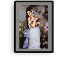 Amy Winehouse in a Rose Garden  Canvas Print