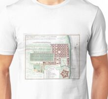 Vintage Map of Cape Town South Africa (1750) Unisex T-Shirt