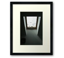 Winter skylight Framed Print
