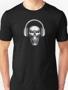 CHROME DJ SKULL WITH HEADPHONES T-Shirt