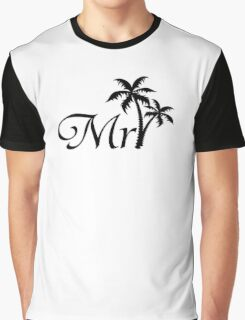 His and Hers Mr and Mrs Palm Tree Honeymoon Matching Bag Graphic T-Shirt