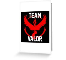Team Valor - Pokemon Go Greeting Card