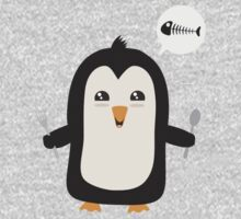 Penguin with fish   Baby Tee