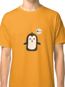 Penguin with fish   Classic T-Shirt