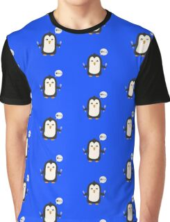 Penguin with fish   Graphic T-Shirt