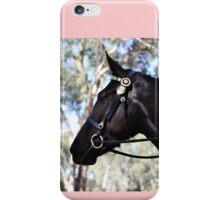 black beauty equine friend iPhone Case/Skin