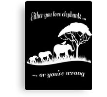 T-shirt Elephant Canvas Print